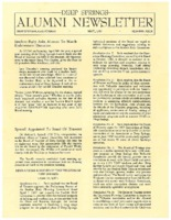 DS Alumni Newsletter May 1967
