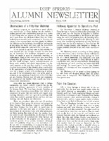 DS Alumni Newsletter March 1970